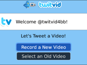 TwitVid Launches Application For Uploading Videos From Your BlackBerry To Twitter