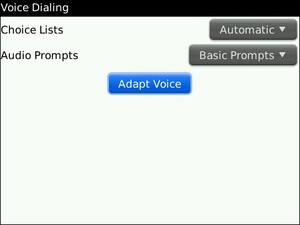 Voice Activated Dialing On BlackBerry Better These Days?
