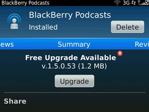 BlackBerry Podcasts app updated to v1.5.0.53