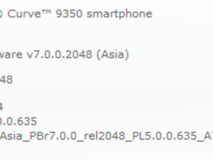 Official OS 7.0.0.464 for the BlackBerry Curve 9350 from Reliance
