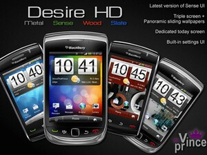 Bring the look and feel of Sense UI to your BlackBerry with HTC Desire HD theme