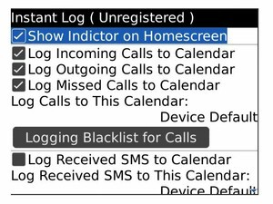 InstantLog for BlackBerry Smartphones Logs Calls, SMS Messages, and Emails - 25 Free Copies
