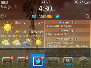 Personalize your home screen with Fancy Widgets for BlackBerry!