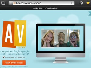 Check out AV by AIM - Free video chat on your BlackBerry PlayBook, including group support!