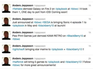 Tons of hot new games coming to the BlackBerry PlayBook from Halfbrick, SEGA, and more!