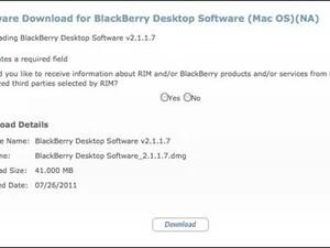 BlackBerry Desktop Manager for Mac updated to v2.1.1.7