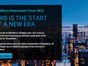 BlackBerry Government Forum in Ottawa will show off a glimpse of the new era of BlackBerry