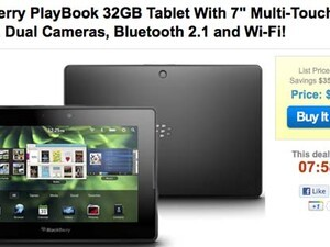 BlackBerry PlayBook 32GB available for $249 from 1SaleADay today only