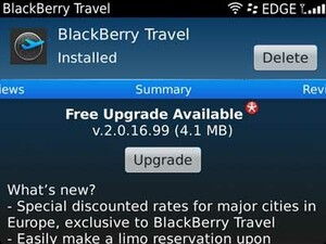 BlackBerry Travel v2.0.16.99 update rolling out in App World