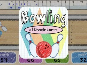 Bowling at Doodle Lanes by Pixel Brain Games brings the alley to your PlayBook!