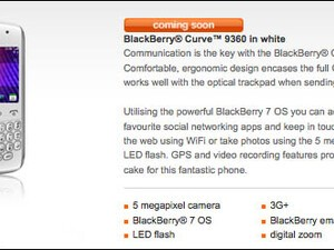 Orange UK lists white BlackBerry Curve 9360 as coming soon!