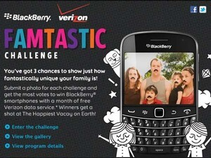 Win amazing prizes in the Famtastic Challenge sponsored by BlackBerry and Verizon