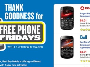 Free Phone Friday at Best Buy Canada features BlackBerry 7 smartphones!