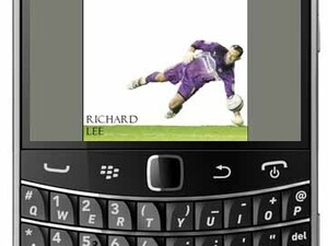 Pro footballer Richard Lee writes autobiography on a BlackBerry Bold