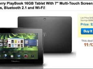 BlackBerry PlayBook available from 1saleaday for $299 today only
