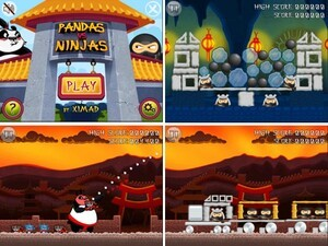 Pandas vs Ninjas by XIMAD - A hot new alternative to Angry Birds!