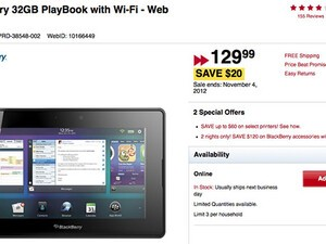 Grab a 32GB BlackBerry PlayBook for just $129 for a limited time at Future Shop!