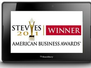 BlackBerry PlayBook wins 2011 Stevie Award!