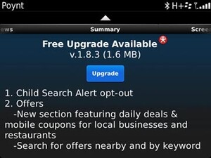 Poynt for BlackBerry updated to v1.8.3