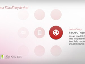 HedoneDesign unveils Prana - A new breath of life for your BlackBerry