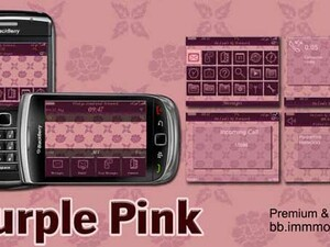 Purple Pink theme by MMMOOO - A classy theme for your BlackBerry