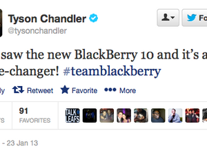 Celebrities are showing their BlackBerry 10 love on Twitter