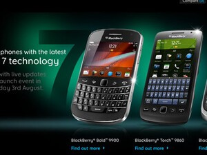 BlackBerry UK shows off BlackBerry Bold 9900 as well as the Torch 9860 and 9810