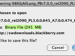 Official OS v7.0.0.474 for the BlackBerry Torch 9860 from Indosat