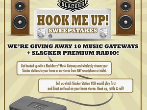 Enter to win a BlackBerry Music Gateway and a 1-year subscription to Slacker Radio!