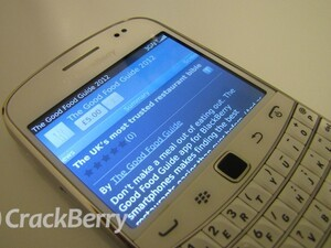 The Good Food Guide now available for BlackBerry smartphones