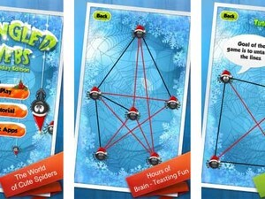 Untangle - brain teasing holiday themed game for your BlackBerry PlayBook
