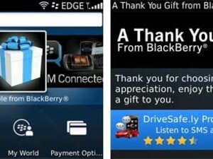 DriveSafe.ly Pro the first app released free by RIM as part of the Thank You From BlackBerry Offer