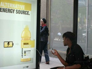Vitaminwater advertising campaign includes free juice for your devices