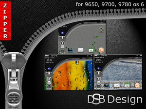 DSB Design presents Zipper - A free theme for your BlackBerry Bold 9650/97xx!