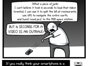 The Oatmeal has fun with smartphones in