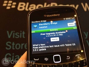 BlackBerry Bridge updated to v2.0.0.30 - Fixes predictive text issues