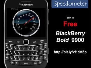 Speedometer for BlackBerry updated, still time to enter the Value Apps contest to win a BlackBerry Bold 9900