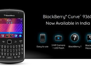 BlackBerry Curve 9360 launches in India