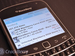 eBay app updated in BlackBerry Beta Zone