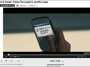 Jennifer Lopez + BlackBerry are a winning combo in Wisin & Yandel's new video for Follow The Leader
