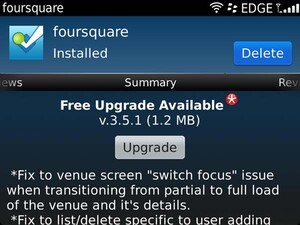 Foursquare for BlackBerry v3.5.1 update fixes multiple bugs