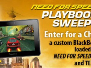 EA Mobile announces NFS PlayBook Sweepstakes