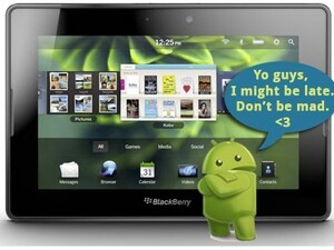 Android app player for BlackBerry PlayBook possibly delayed until fall