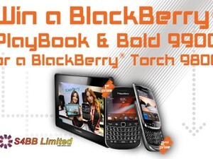 S4BB Limited launches their new Facebook page with an awesome contest - Win a BlackBerry PlayBook, Bold 9900 or Torch 9810!