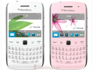 Pink and white BlackBerry Curve 9360s coming to TELUS