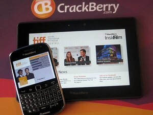 The Toronto International Film Festival app for BlackBerry updated with BBM integration