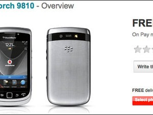 BlackBerry Torch 9810 makes an appearance on Vodafone UK website