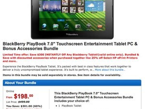 US Walmart stores roll back BlackBerry PlayBook prices to match their northern counterpart