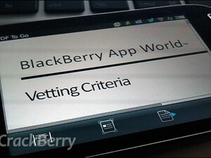 RIM releases a BlackBerry App World Vetting Criteria document for developers