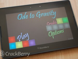 Defy physics with Ode to Gravity for the BlackBerry PlayBook